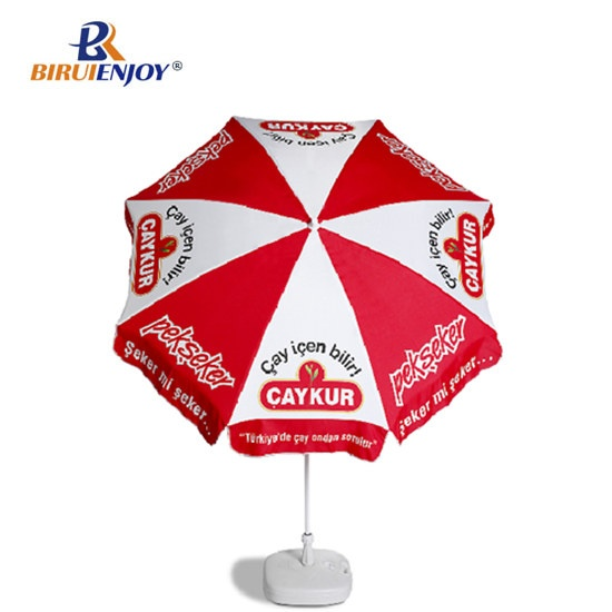 2m outdoor parasol with logo printed for market/street/store