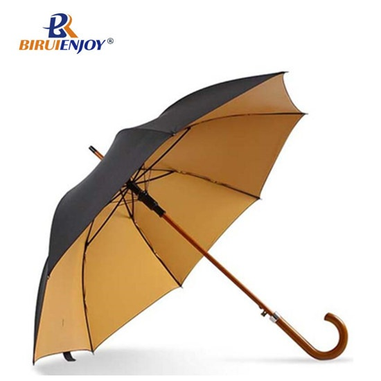 28 inch golf umbrella wood frame double layer