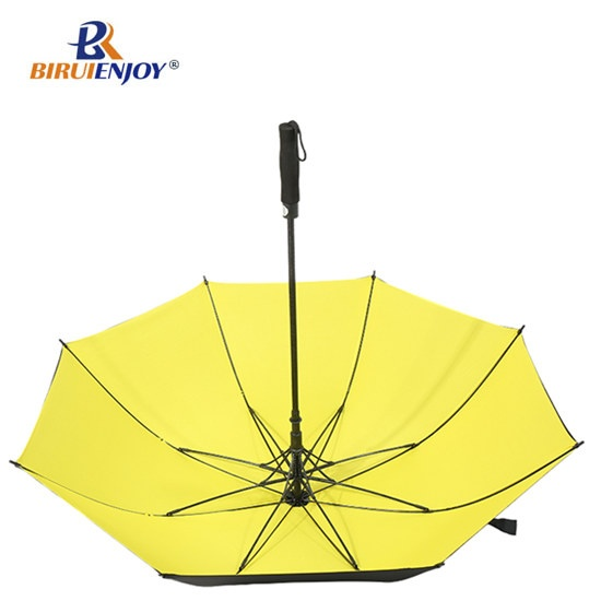 storm golf umbrella with fiber frame black uv