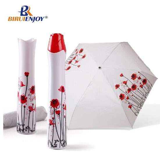 Rose shaped bottle umbrella fashion design