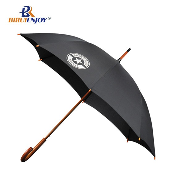 24 inch stick umbrella wood automatic