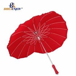 heart shaped wedding umbrella