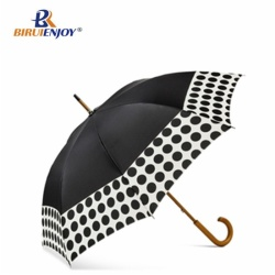 23 inch fashion straight umbrella wood handle