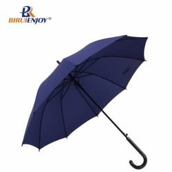 Straight umbrella windproof blue for men