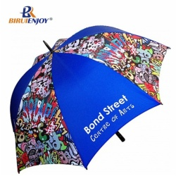 Windproof golf umbrella all over imprint