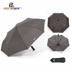 aluminum mini umbrella black pongee wood handle