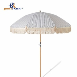 Orange beach umbrella PVC canopy high quality frame 180