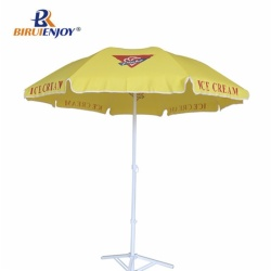 Commercial beach umbrella black and orange 180 cm logo parasol