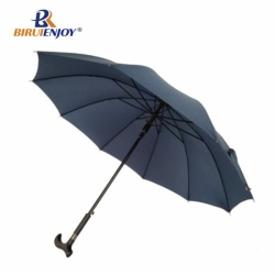 Strong crutch umbrella fiber frame walking umbrella auto for elder