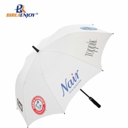 Sun umbrella golf size silver fabric aluminum shaft automatic