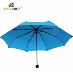 21 inch 3 folding umbrella strong blue
