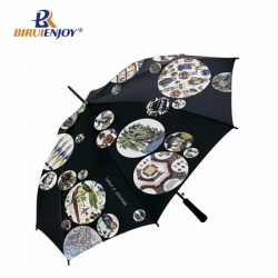 24 inch blue umbrella straight fiber frame