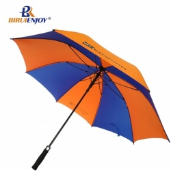 High qulity golf umbrella automatic full fiber black