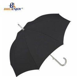 28 inch automatic aluminum golf umbrella black silver