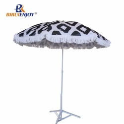 Luxury beach umbrella with cotton trim