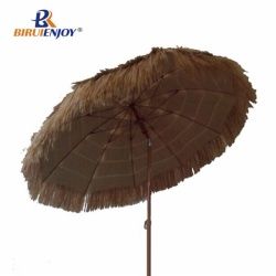 Adjustable beach umbrella hawaii with pp straw
